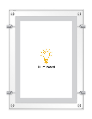 Clear Frame (Wall Suspension) – Focos Displays